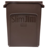 Rubbermaid 1956181 Slim Jim 16 Gallon Brown Trash Can