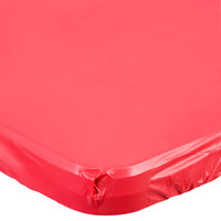 Creative Converting 37327 Stay Put 30 inch x 96 inch Real Red Plastic Table Cover