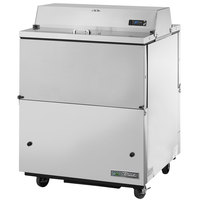True TMC-34-S-DS-HC 34 inch Two Sided Milk Cooler with Stainless Steel Exterior and Aluminum Interior