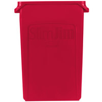 Rubbermaid 1956189 Slim Jim 23 Gallon Red Trash Can