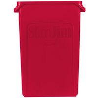 Rubbermaid 1956189 Slim Jim 23 Gallon Red Wall Hugger Trash Can