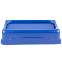 Rubbermaid FG267360BLUE Slim Jim Blue Swing Trash Can Lid