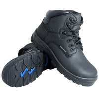 Genuine Grip 6050 Poseidon Men's Size 11.5 Wide Width Black Waterproof Composite Toe Non Slip Full Grain Leather Boot