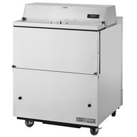 True TMC-34-S-HC 34 inch One Sided Milk Cooler with Stainless Steel Exterior and Aluminum Interior