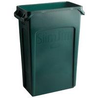 Rubbermaid 1956186 Slim Jim 92 Qt. / 23 Gallon Green Rectangular Trash Can