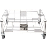 Rubbermaid 1956191 Slim Jim Two Container Stainless Steel Dolly