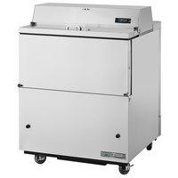 True TMC-34-S-SS-HC 34 inch One Sided Milk Cooler with Stainless Steel Interior and Exterior