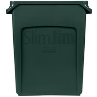 Rubbermaid 1955960 Slim Jim 16 Gallon Green Trash Can