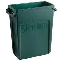 Rubbermaid 1955960 Slim Jim 64 Qt. / 16 Gallon Green Trash Can