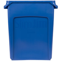Rubbermaid 1971257 Slim Jim 16 Gallon Blue Trash Can