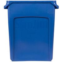 Rubbermaid 1971257 Slim Jim 16 Gallon Blue Wall Hugger Trash Can