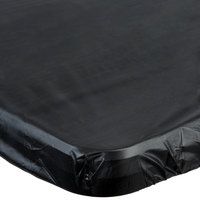 Creative Converting 701000 Stay Put 29 inch x 72 inch Black Plastic Table Cover