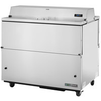 True TMC-49-S-DS-HC 49 inch Two Sided Milk Cooler with Stainless Steel Exterior and Aluminum Interior