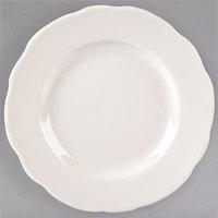 Tuxton TSC-006 Shell 6 3/8 inch Ivory (American White) Scalloped Edge Plate - 36/Case