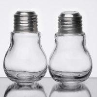 American Metalcraft SPLB6 1.5 oz. Glass Lightbulb Salt and Pepper Shaker Set