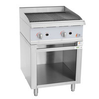 Cooking Performance Group 24CBRSBNL Natural Gas 24 inch Radiant Charbroiler with Storage Base - 80,000 BTU