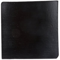 Tablecraft BAMDSBK2 2 1/2 inch x 2 1/2 inch Black Bamboo Disposable Square Dish   - 48/Pack
