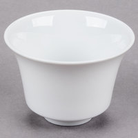 CAC CTY-C8 Citysquare 4 oz. Bright White Round Porcelain Cup - 48/Case