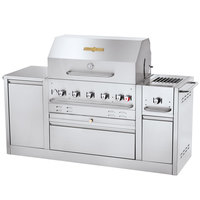 Crown Verity CV-MBI-80-NAT Natural Gas 79 3/8 inch Island Grill - 79,500 BTU