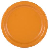 Creative Converting 323380 7 inch Pumpkin Spice Orange Round Paper Plate - 240/Case