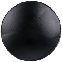 Tablecraft BAMDRBK2 2 1/2 inch Black Bamboo Disposable Round Dish - 48/Case