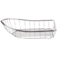 Clipper Mill by GET 4-80008 Stainless Steel Boat Basket - 10 3/4 inch x 6 1/4 inch x 3 1/4 inch