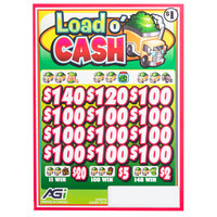 Load O' Cash 3 Window Pull Tab Tickets - 2716 Tickets per Deal - Total Payout: $2316