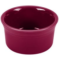 Homer Laughlin 568341 Fiesta Claret 8 oz. Ramekin - 6/Case