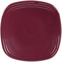 Homer Laughlin 921341 Fiesta Claret 7 1/2 inch Square Salad Plate - 12/Case