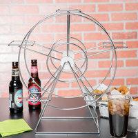 Clipper Mill by GET 4-92065 Chrome 5 Basket Ferris Wheel Rack - 14 1/2 inch x 7 inch x 18 1/2 inch