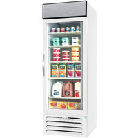 Beverage Air MMR23HC-1-W White Marketmax Refrigerated Glass Door Merchandiser with LED Lighting- 23 Cu. Ft.