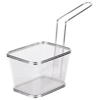Clipper Mill by GET 4-81868 5 inch x 4 inch x 3 1/4 inch Stainless Steel Single Serving Fry Basket