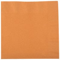 Creative Converting 323384 Pumpkin Spice Orange 2-Ply 1/4 Fold Luncheon Napkin - 600/Case