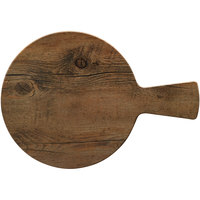 Elite Global Solutions M15RW Fo Bwa Round Faux Driftwood Serving Board with Handle - 15 inch x 1/2 inch