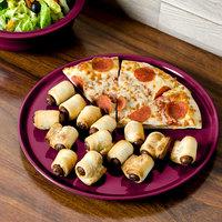 Homer Laughlin 575341 Fiesta Claret 12 inch Pizza / Baking Tray - 4/Case