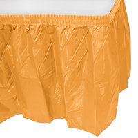 Creative Converting 323382 14' x 29 inch Pumpkin Spice Orange Plastic Table Skirt