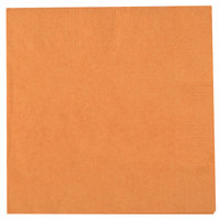 Creative Converting 323381 Pumpkin Spice Orange 2-Ply Beverage Napkin - 600/Case