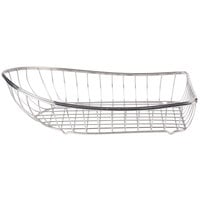 Clipper Mill by GET 4-80300 Stainless Steel Boat Basket - 13 1/4 inch x 7 3/4 inch x 3 3/4 inch