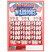 Returning Warriors 3 Window Pull Tab Tickets - 2716 Tickets per Deal - Total Payout: $2316