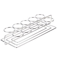 Clipper Mill by GET 4-82010 Stainless Steel 10 Round Compartment Dessert Caddy - 11 3/4 inch x 3 1/4 inch x 1 1/4 inch