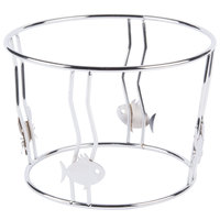 GET WS-9 8 1/2 inch x 6 inch Stainless Steel Wire Stand
