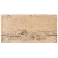 GET SB-1472-OW Granville 14 inch x 7 inch Melamine Faux Oak Wood Display Tray