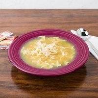 Homer Laughlin 451341 Fiesta Claret 13.25 oz. Rim Soup Bowl - 12/Case