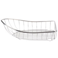 Clipper Mill by GET 4-80007 Stainless Steel Boat Basket - 9 1/2 inch x 5 inch x 2 1/2 inch