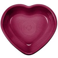 Homer Laughlin 747341 Fiesta Claret 9 oz. Heart Bowl - 4/Case