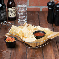Clipper Mill by GET 4-81929 16 inch x 8 1/2 inch x 1 1/2 inch Guitar Basket with Condiment Holder