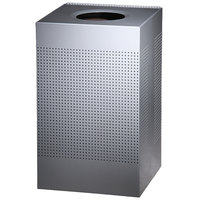 Rubbermaid FGSC18EPLSM Silhouettes Metallic Silver Steel Designer Waste Receptacle - 40 Gallon