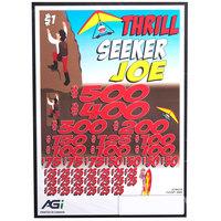 Thrill Seeker Joe 5 Window Pull Tab Tickets - 4000 Tickets per Deal - Total Payout: $3000