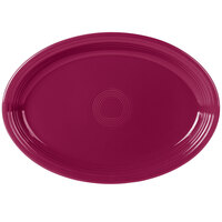 Homer Laughlin 968341 Fiesta Claret 19 1/4 inch x 13 1/2 inch Extra Large Oval Serving Platter   - 2/Case