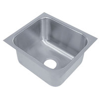 Advance Tabco 2020A-14 1 Compartment Undermount Sink Bowl 20 inch x 20 inch x 14 inch